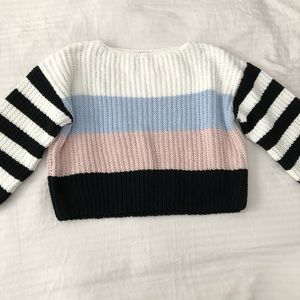 forever 21 chenille sweater colorblock